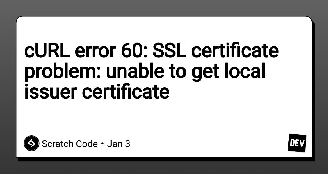 curl dev certificate