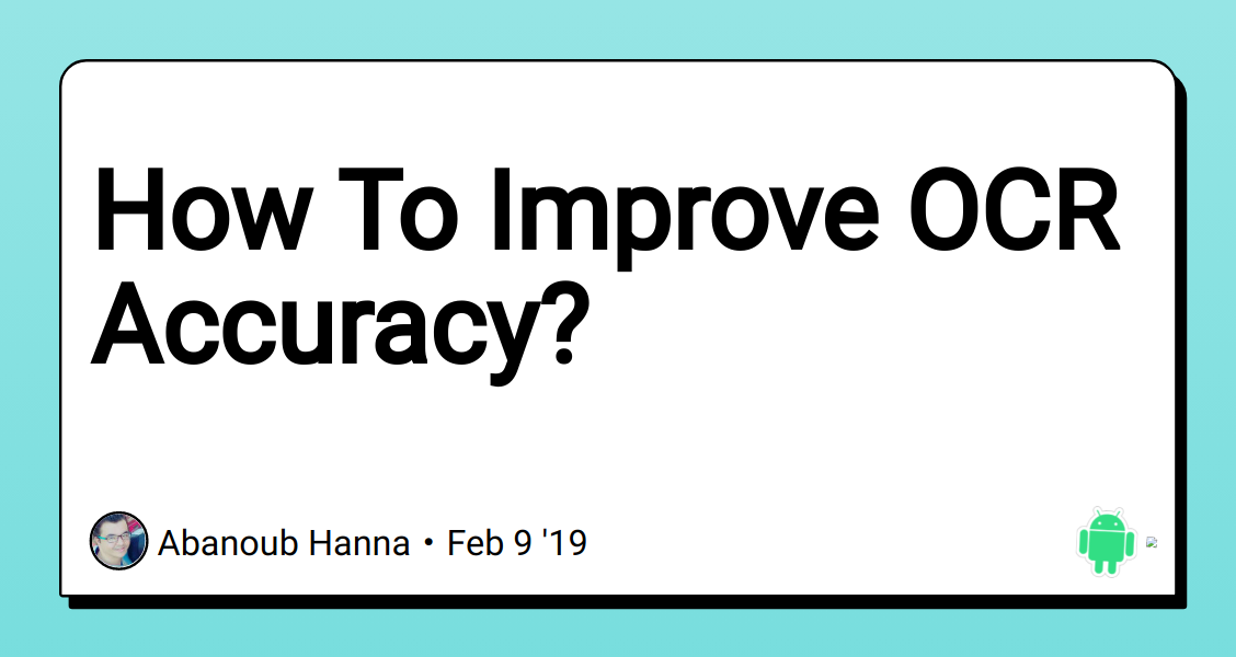 How To Improve OCR Accuracy? - DEV Community 👩 💻👨 💻