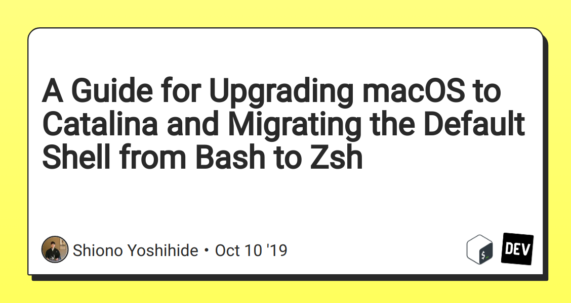 A Guide for Upgrading macOS to Catalina and Migrating the