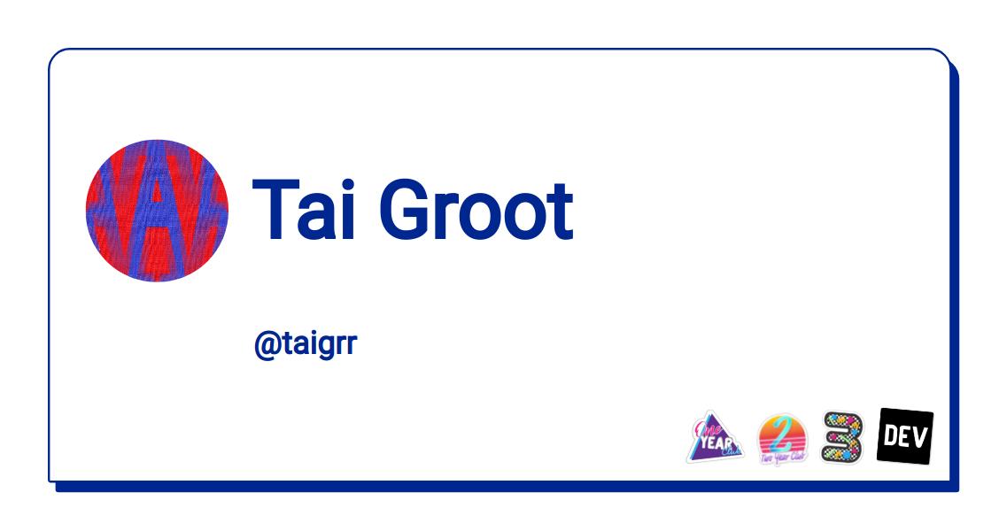 Tai Groot - DEV Community 👩💻👨💻