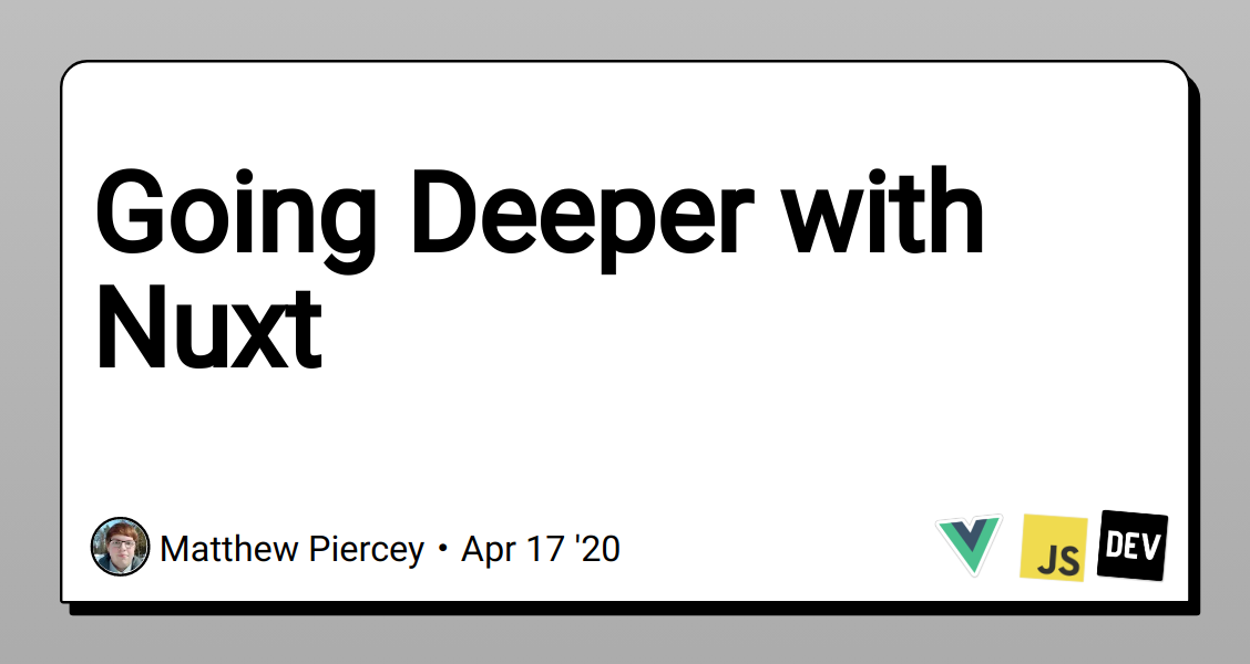 Going Deeper with Nuxt