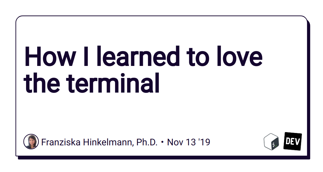 How I learned to love the terminal