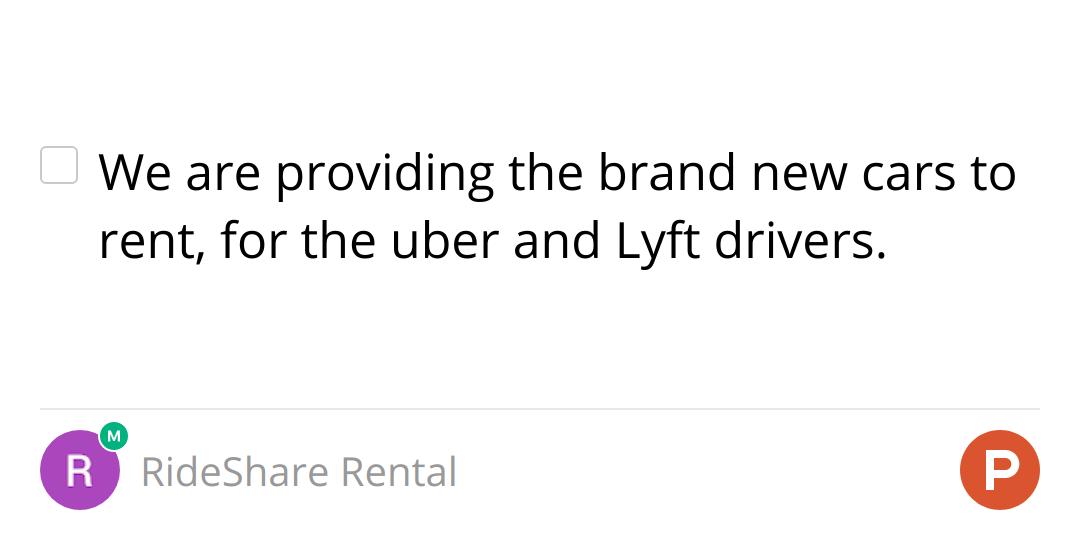 RideShare Rental on Product Hunt: