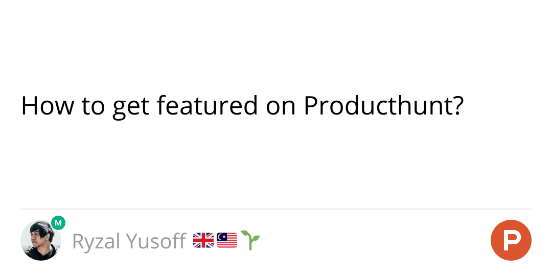 How to get featured on Producthunt?