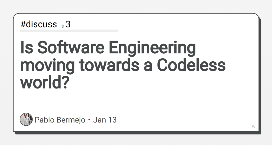 Image of article 'Is Software Engineering moving towards a Codeless world'