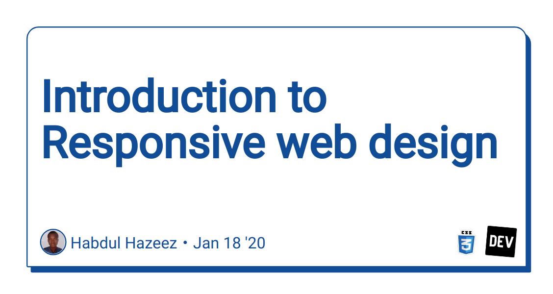 Introduction To Responsive Web Design Dev