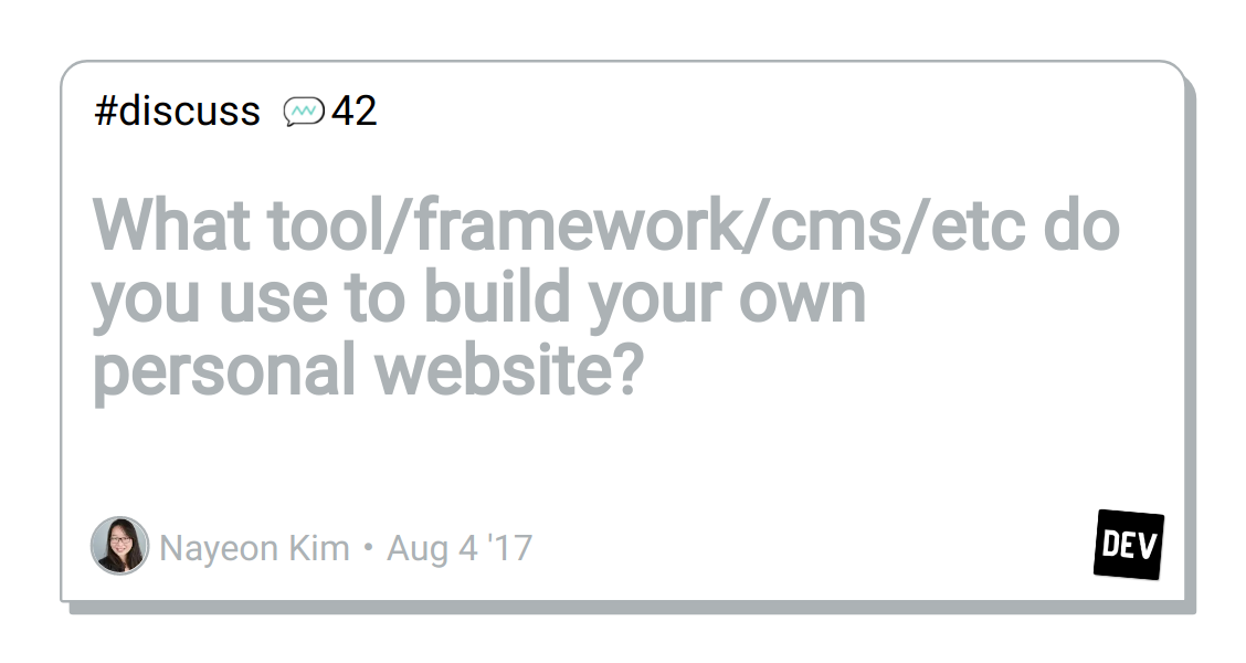 What tool/framework/cms/etc do you use to build your own personal