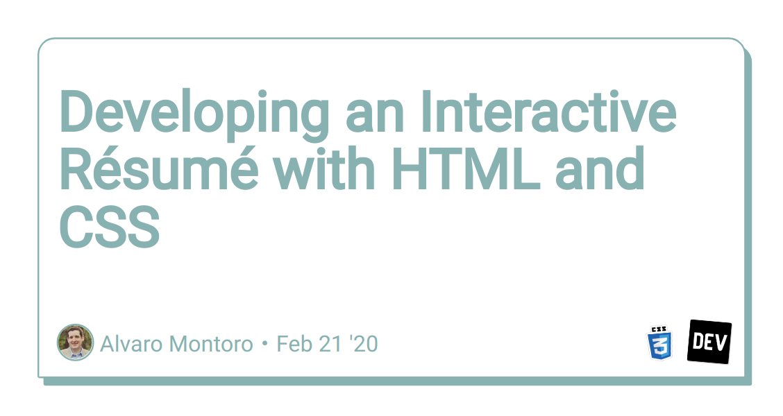 Developing an Interactive Résumé with HTML and CSS