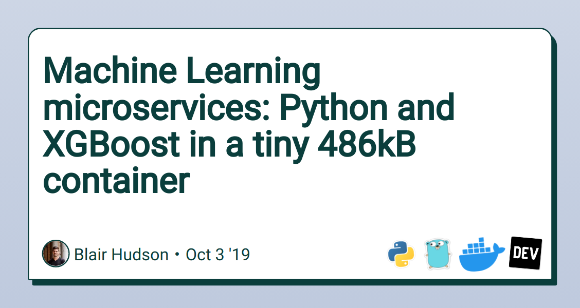 Machine Learning microservices: Python and XGBoost in a tiny