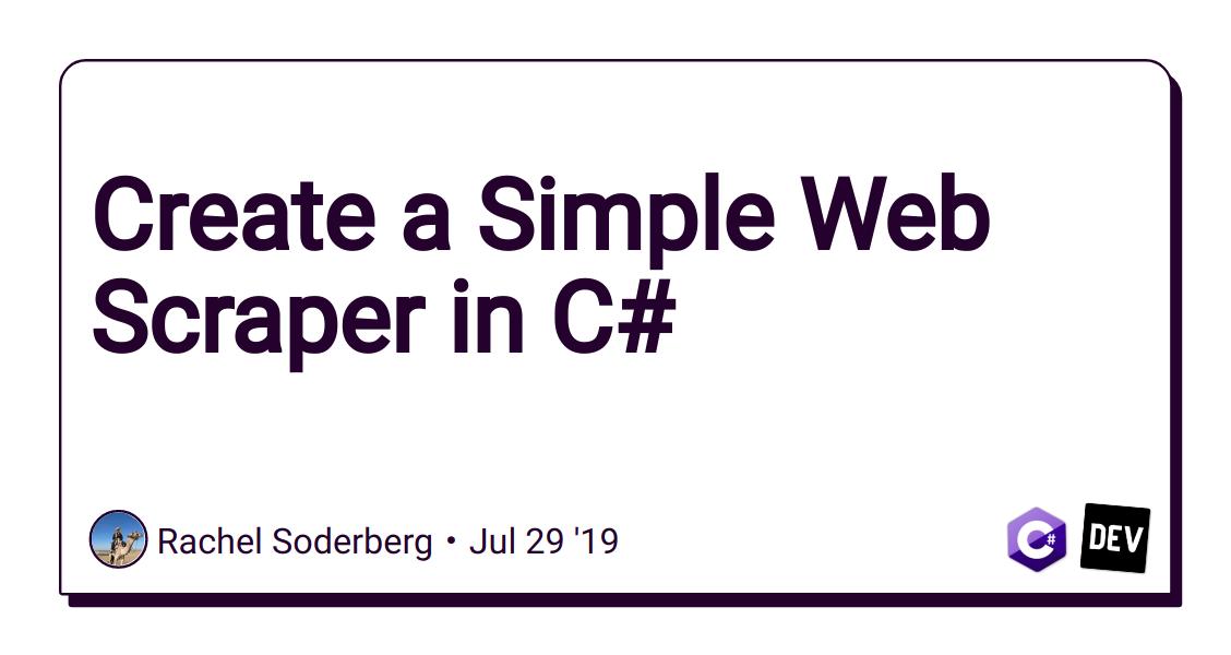 Symfony Web Scraper