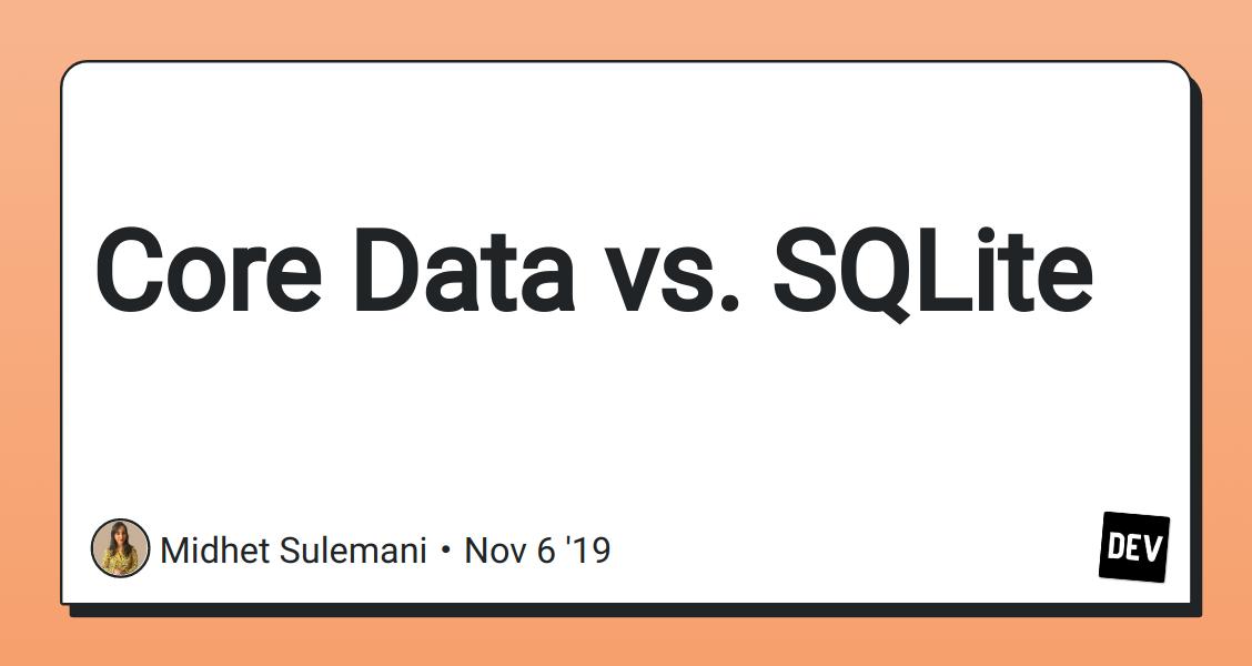 Core data sqlite vs binary options chipping norton stakes bettingadvice