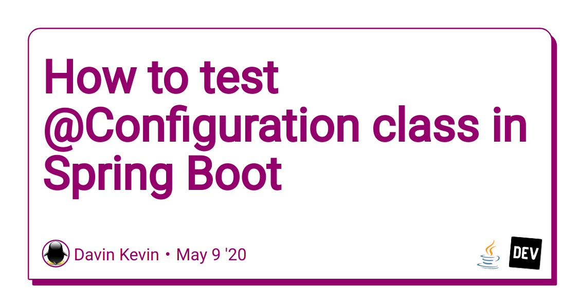 How to test @Configuration class in