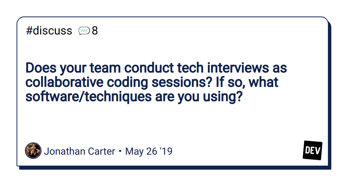 Does your team conduct tech interviews as collaborative coding