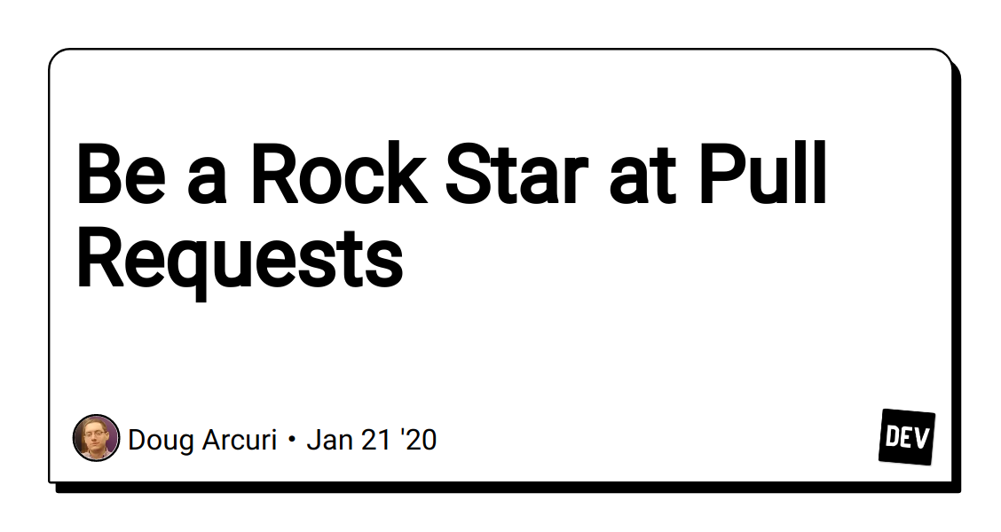 Be a Rockstar at Pull Requests