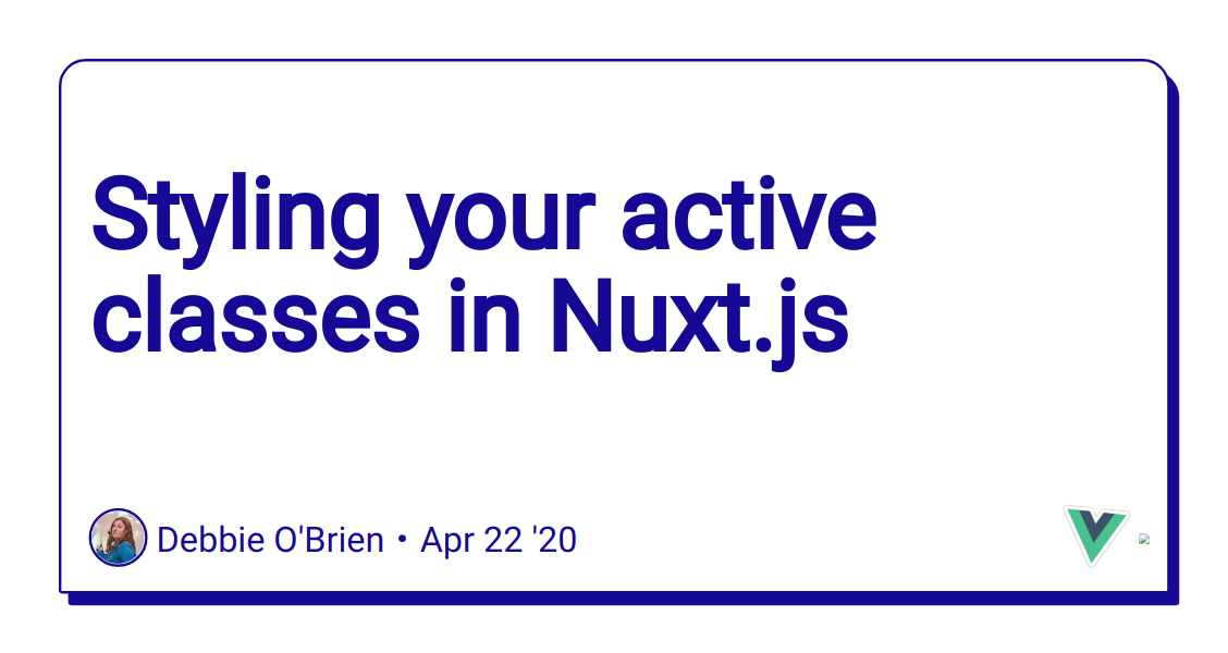 Styling your active classes in Nuxt.js