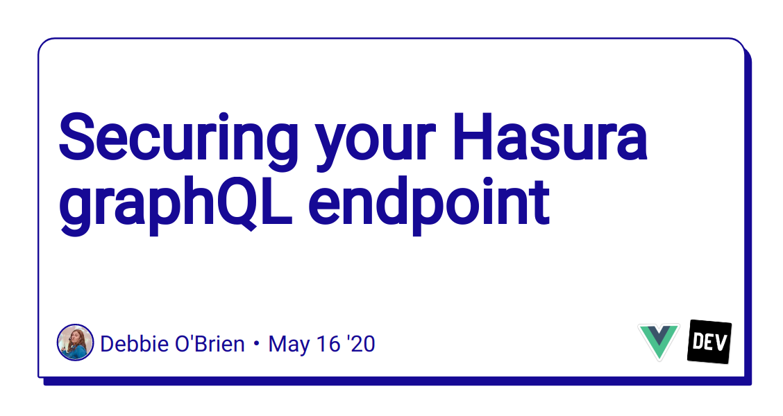 Securing your Hasura graphQL endpoint