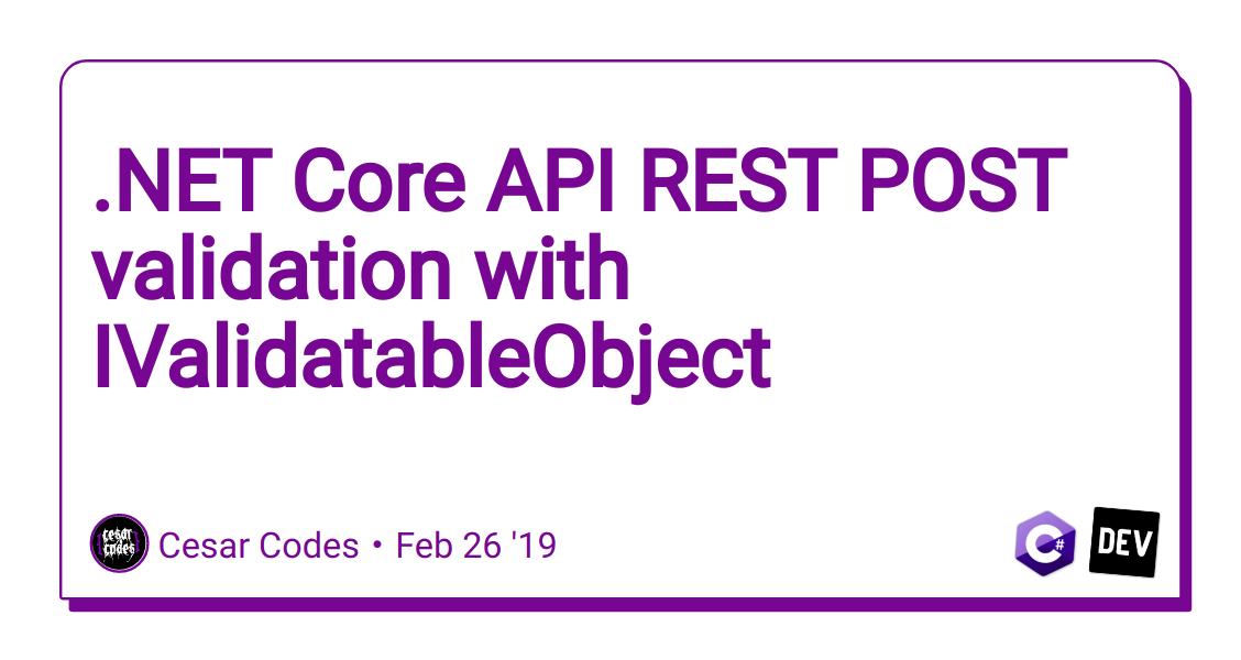 NET Core API REST POST validation with IValidatableObject