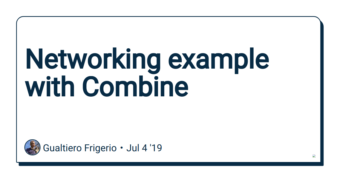 Networking example with Combine - DEV Community 👩 💻👨 💻