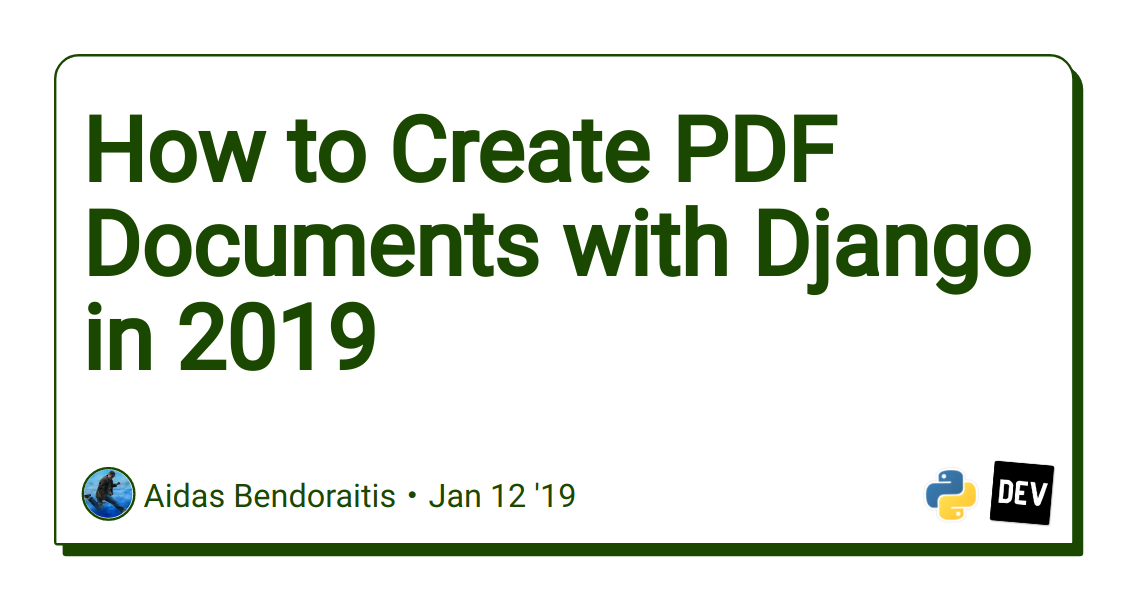 How to Create PDF Documents with Django in 2019 - DEV Community
