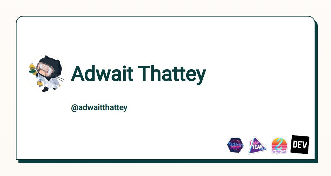 Adwait Thattey - DEV