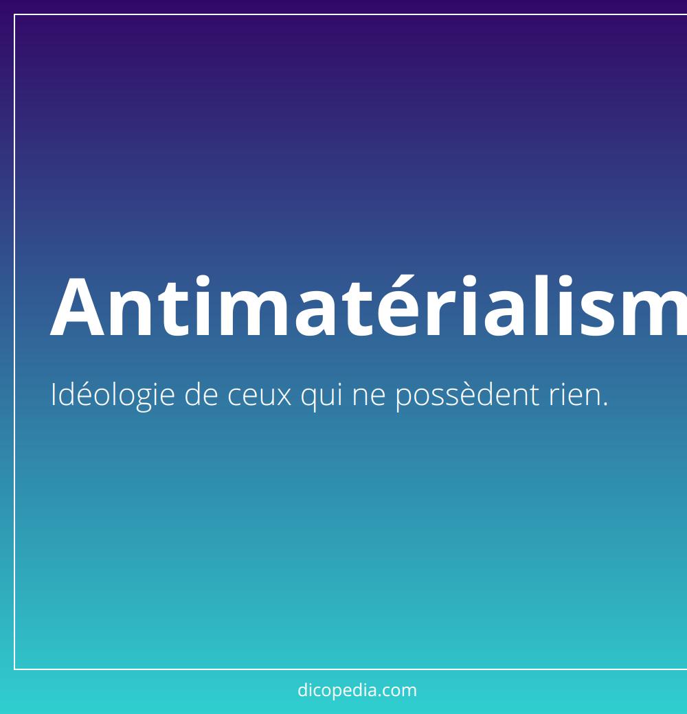 antimatérialisme