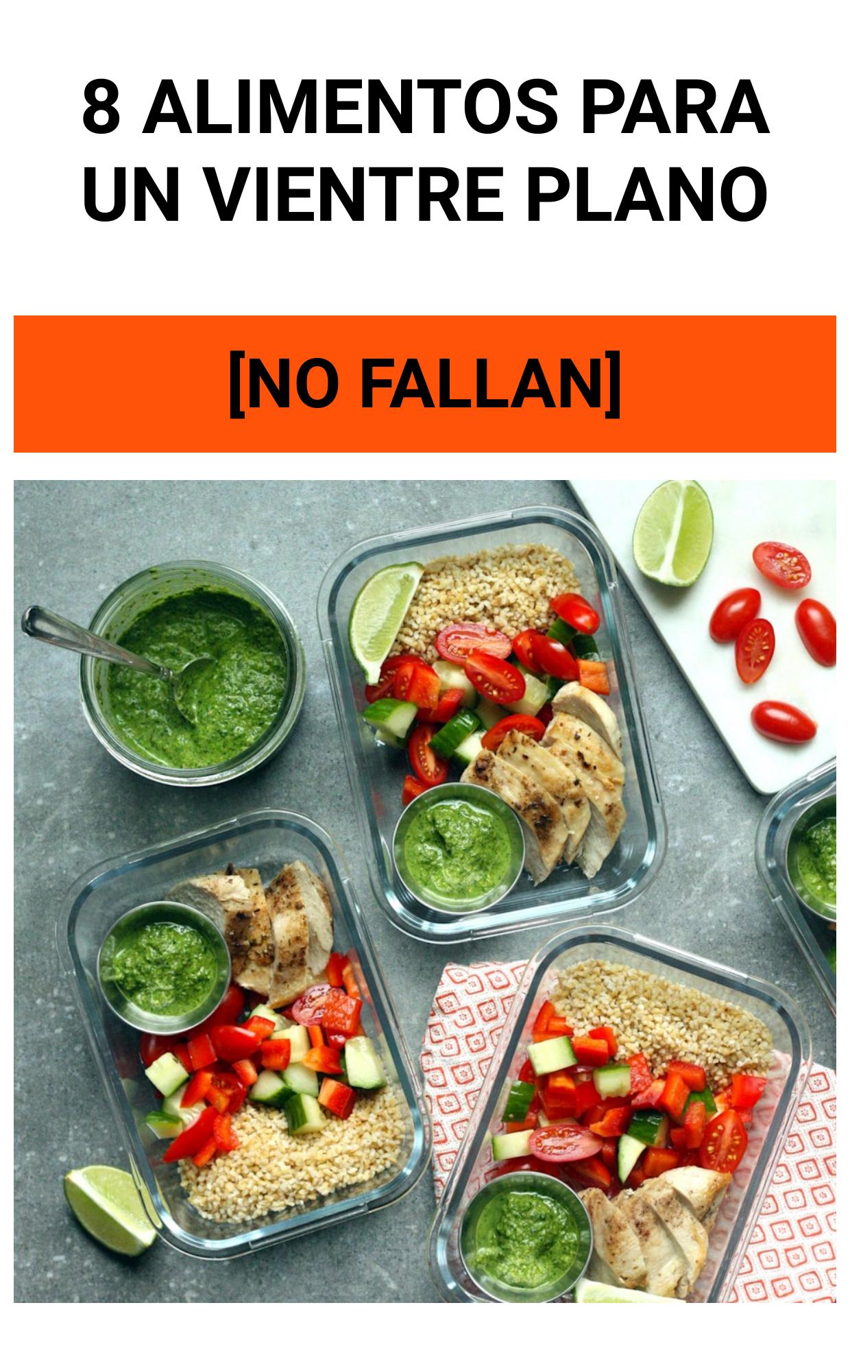 8 Alimentos para un VIENTRE PLANO