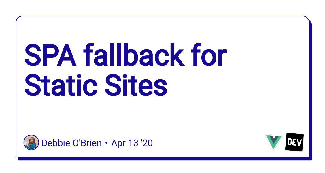 SPA fallback for Static Sites