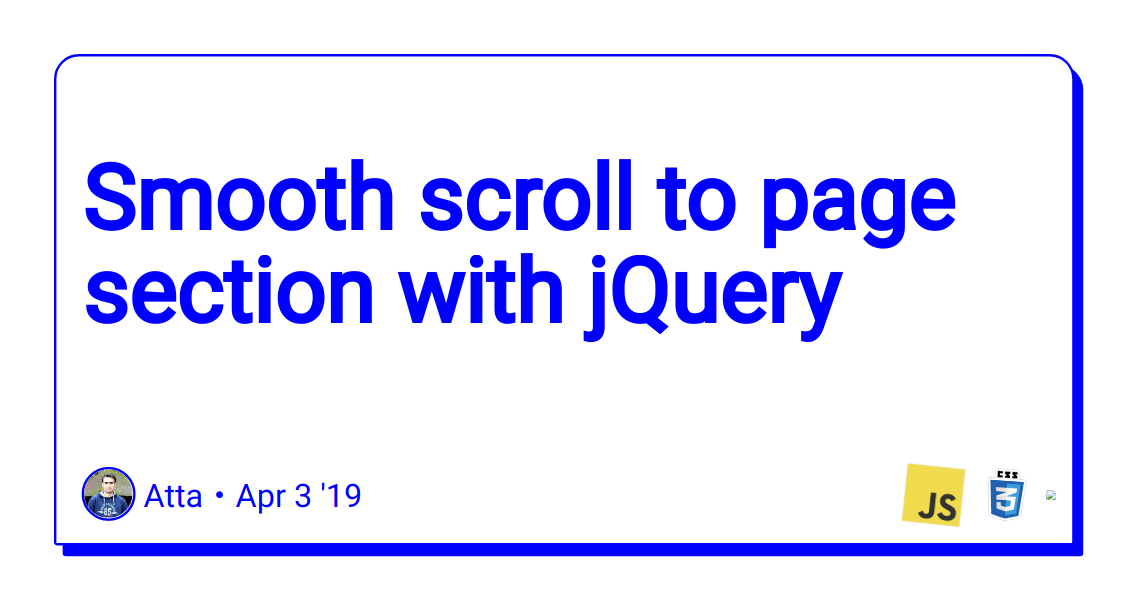 Smooth scroll to page section with jQuery - DEV Community 👩 💻👨 💻