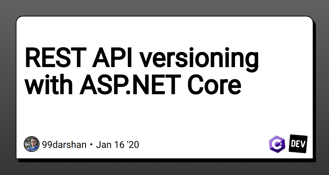 REST API versioning with ASP.NET Core