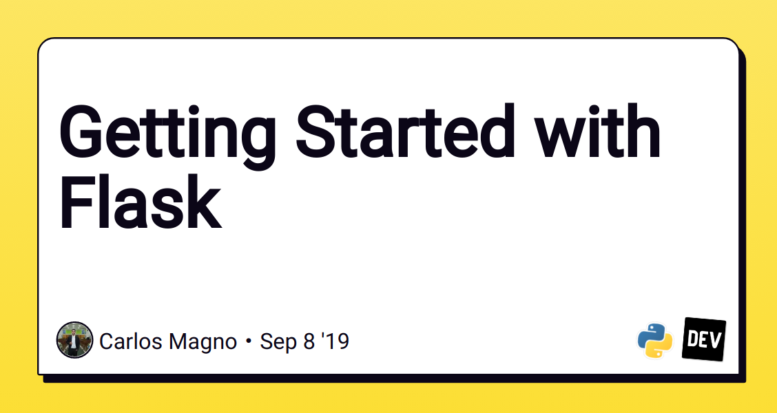 Getting Started with Flask - DEV Community 👩 💻👨 💻