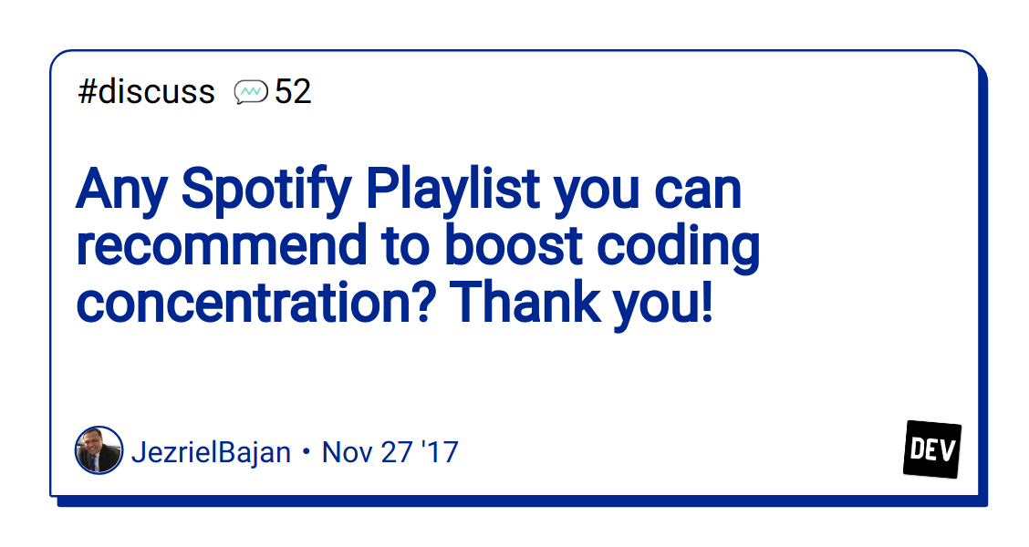 Any Spotify Playlist you can recommend to boost coding