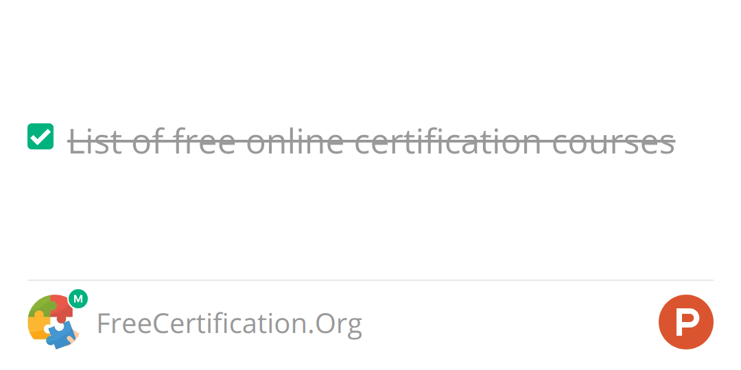 FreeCertification Org on Product Hunt: