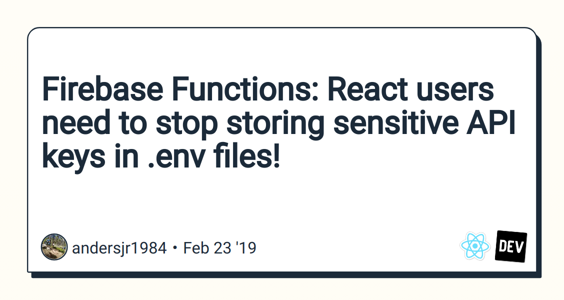 Firebase Functions: React users need to stop storing