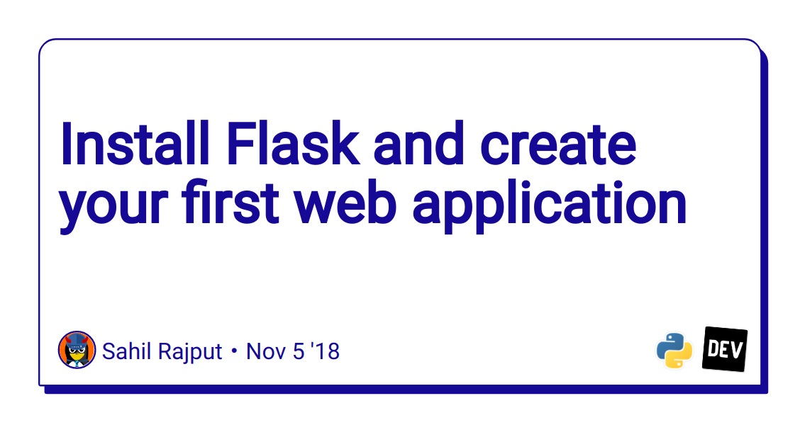 Install Flask and create your first web application - DEV