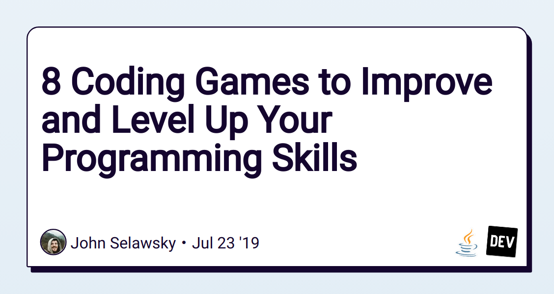 8 Coding Games to Improve and Level Up Your Programming