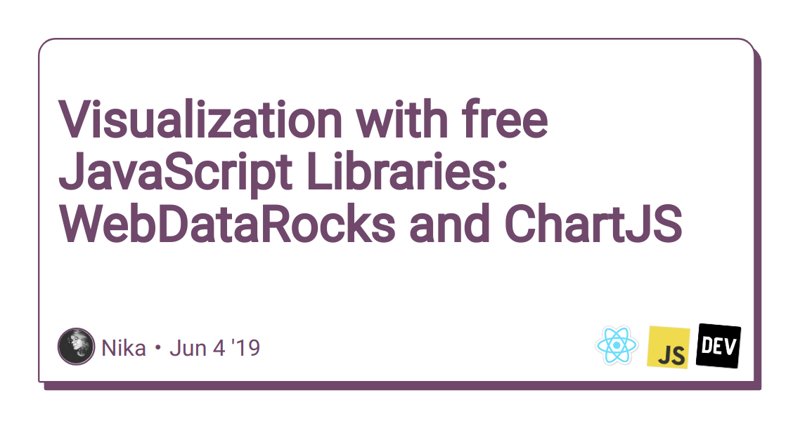 Visualization with free JavaScript Libraries: WebDataRocks