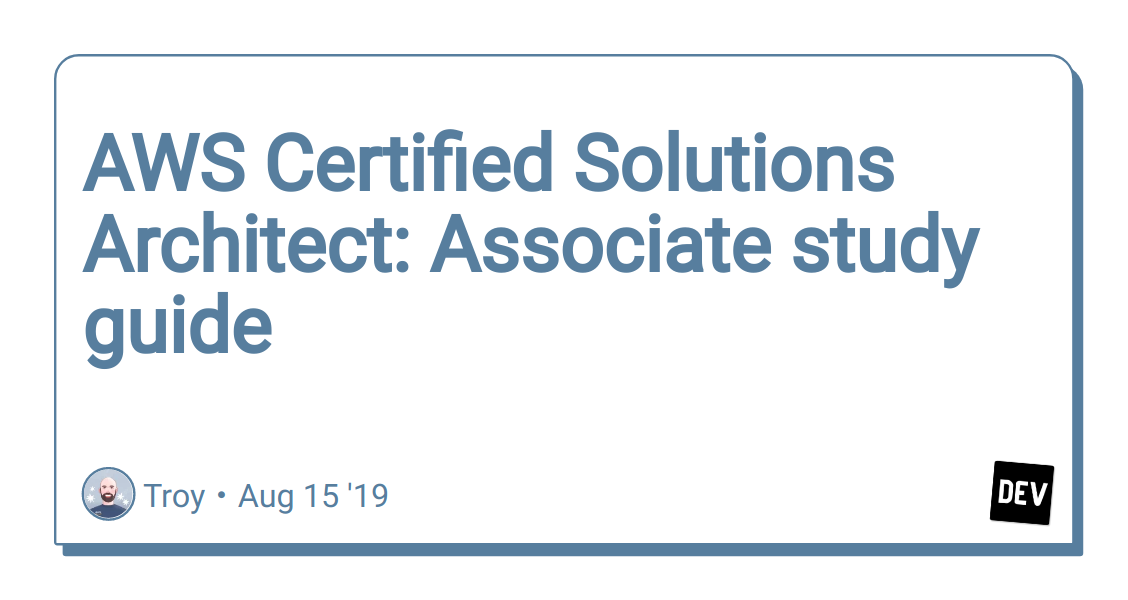 AWS Certified Solutions Architect: Associate study guide