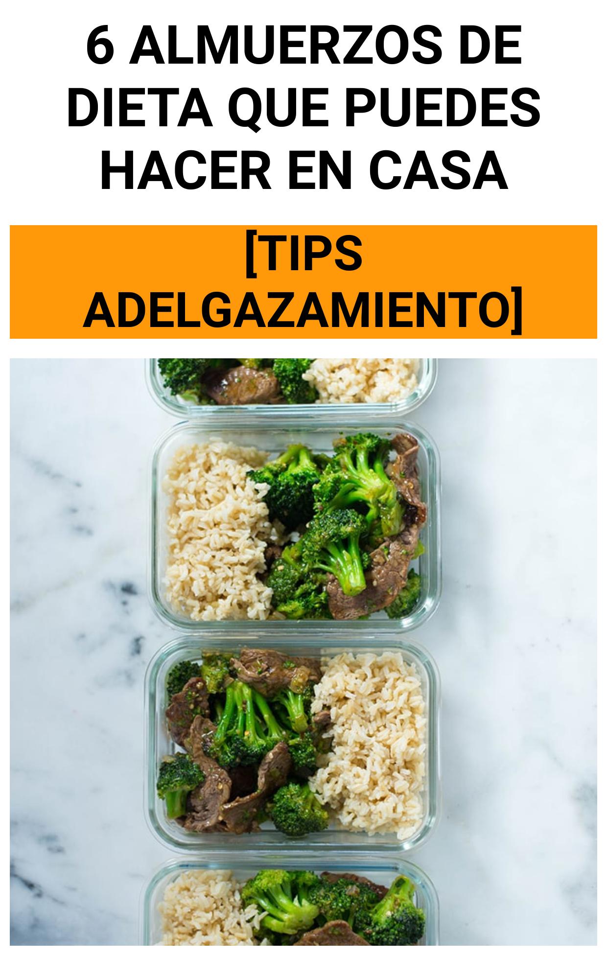 6 Almuerzos de dieta que puedes hacer en casa