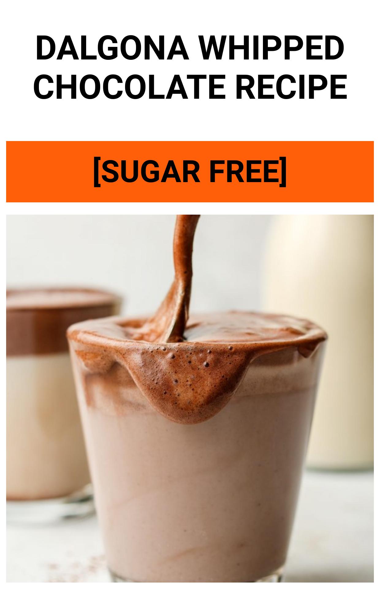 Dalgona Whipped Chocolate RECIPE