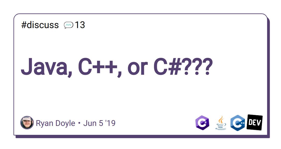 java  c    or c