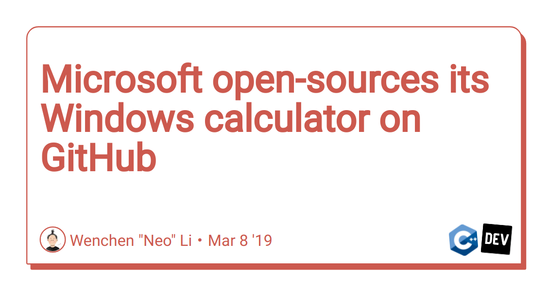 Microsoft open-sources its Windows calculator on GitHub