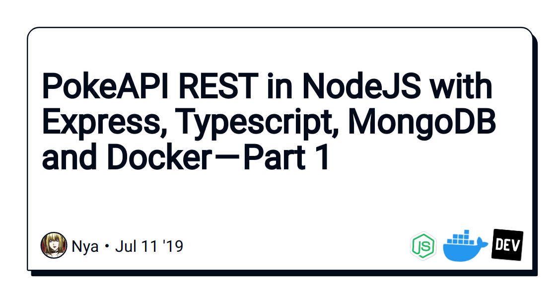 PokeAPI REST in NodeJS with Express, Typescript, MongoDB and Docker