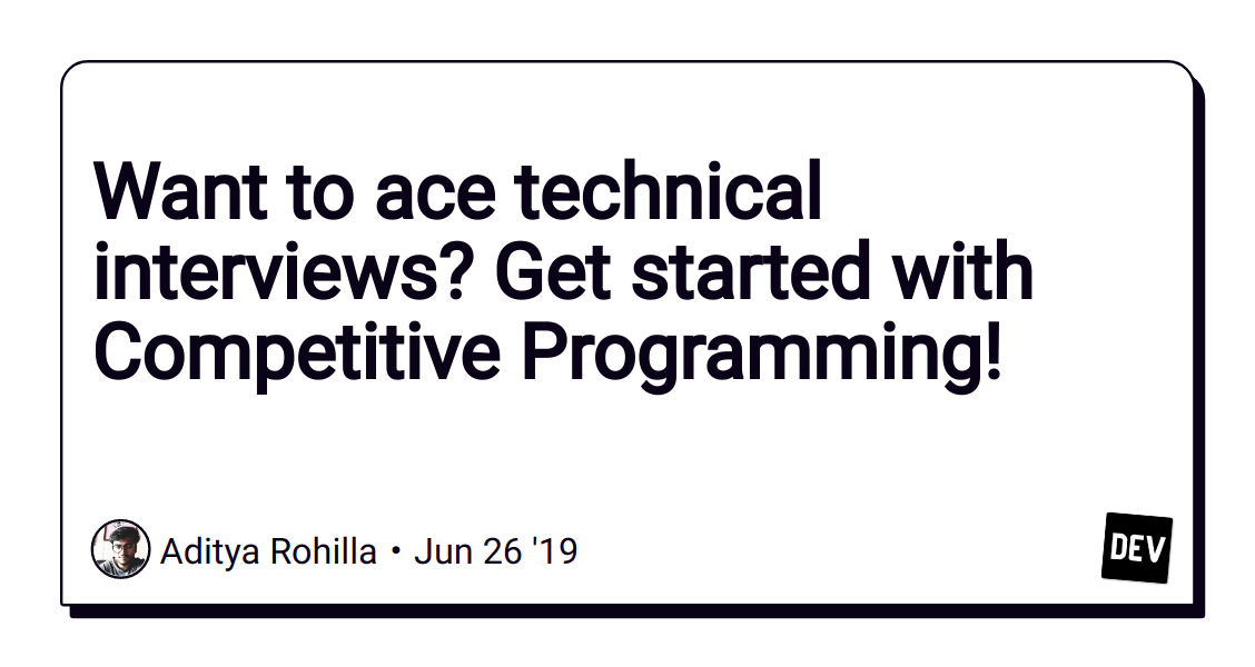 Want to ace technical interviews? Get started with