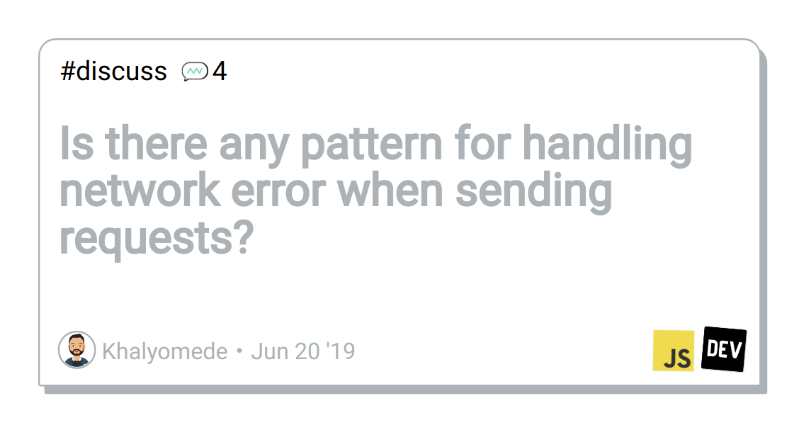 Is there any pattern for handling network error when sending