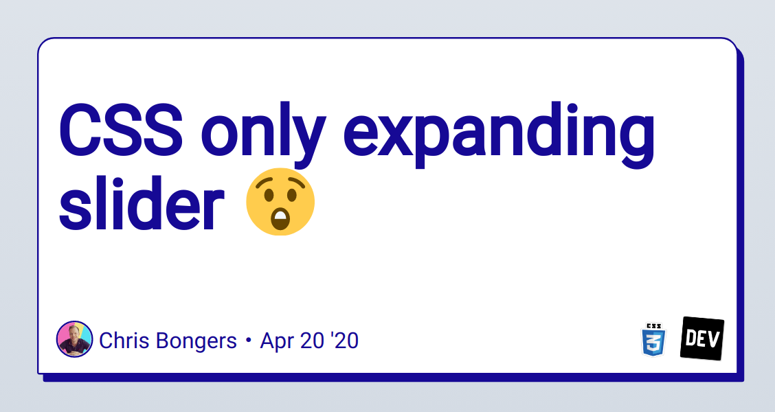 CSS only expanding slider ???? - DEV Community