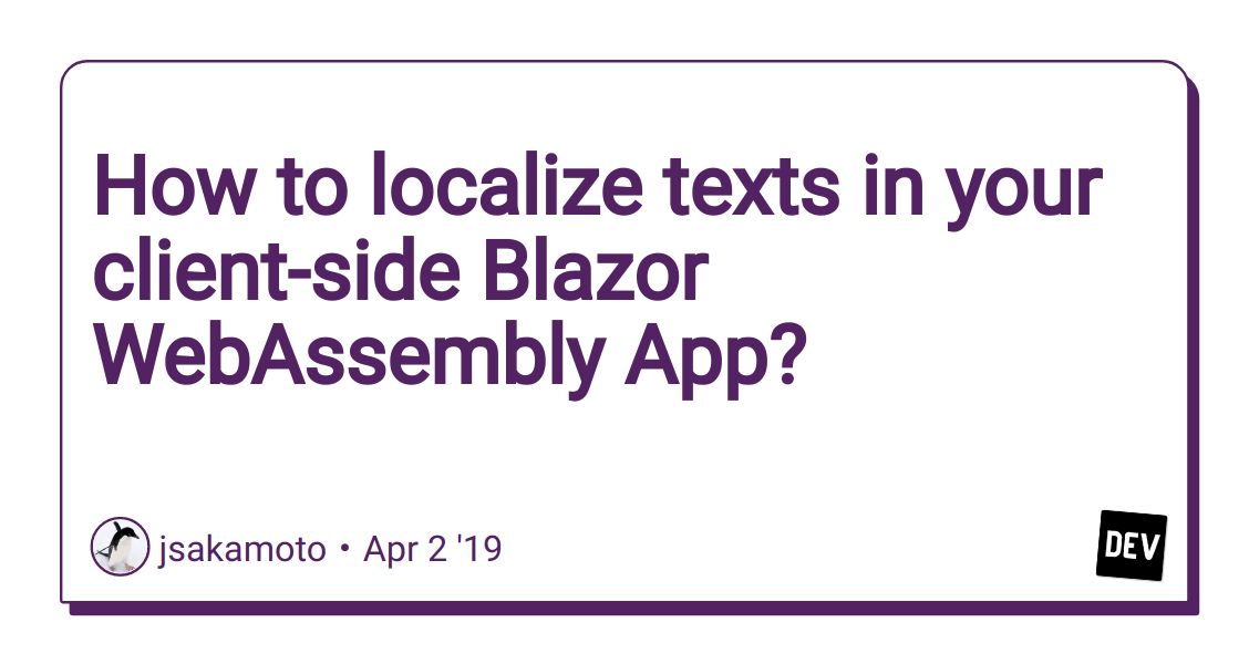 How to localize texts in your client-side Blazor WebAssembly
