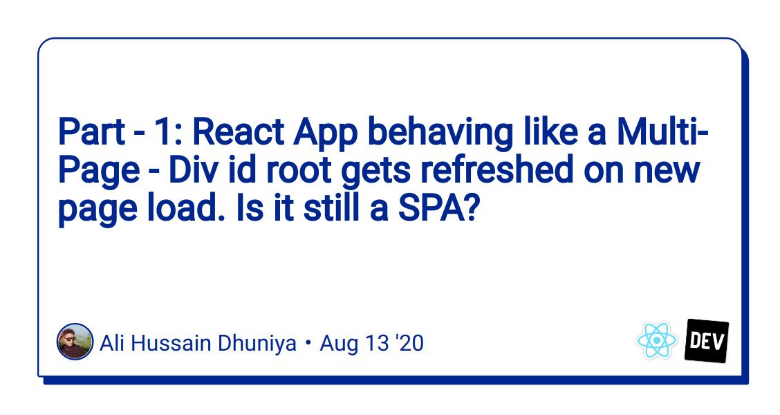 Multi page react app