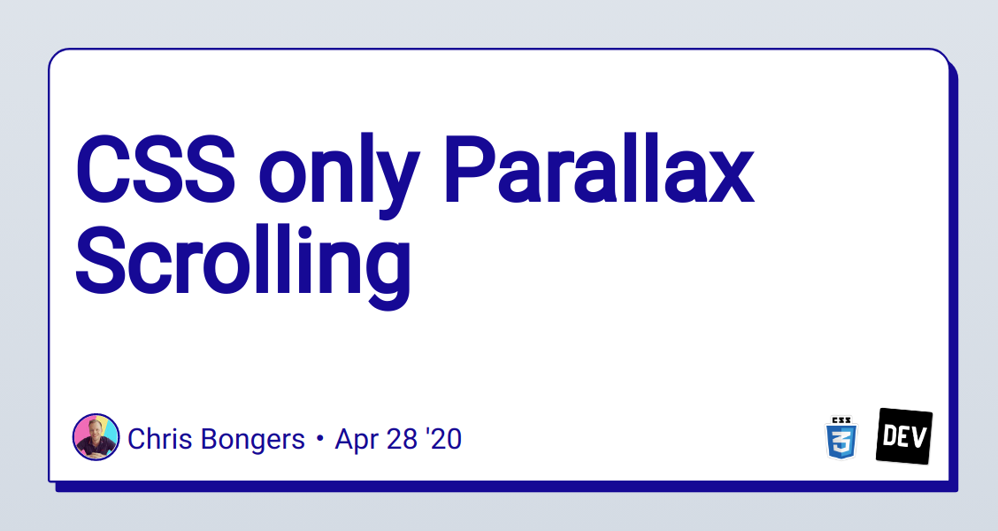 CSS only Parallax Scrolling - DEV Community