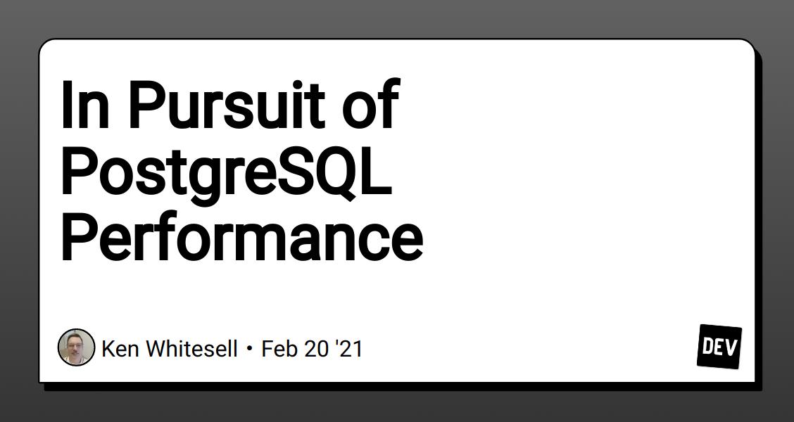 postgreSQL & DB - cover