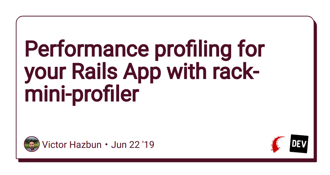 Performance profiling for your Rails App with rack-mini-profiler